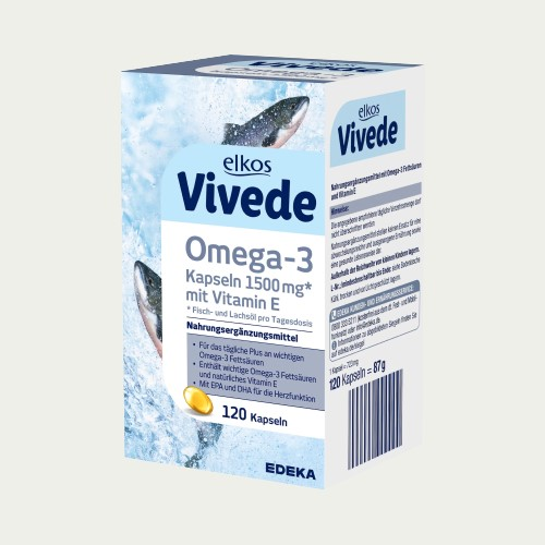 2509-1 - Elkos Vivede Omega 3 1500mg Capsules 120's - German Health Store