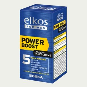 1604 Elkos Men's Power Boost Face Cream Q10 50ml - German Health Store